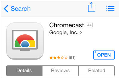 open chromecast