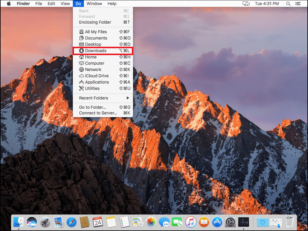 how to empty downloads on mac