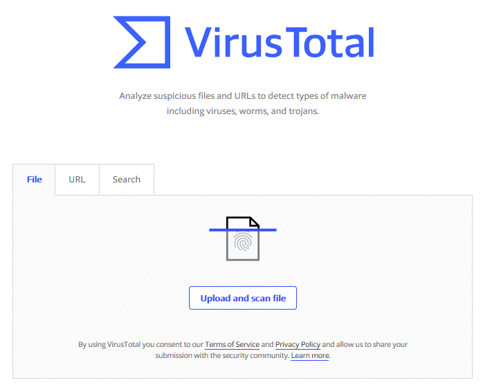 Use VirusTotal to Scan a File