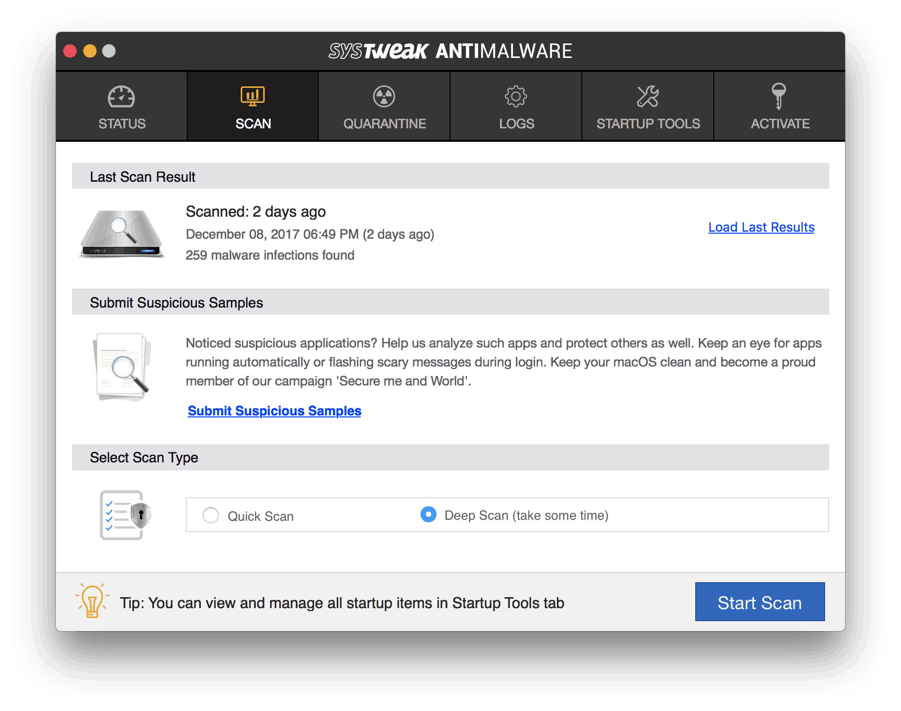 systweak antimalware for mac in darth miner
