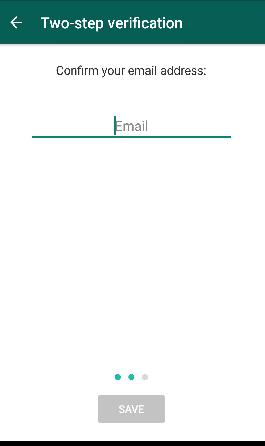 Confirm e-mail address