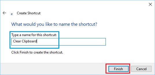 name of shortcut