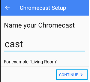 name of chromecast