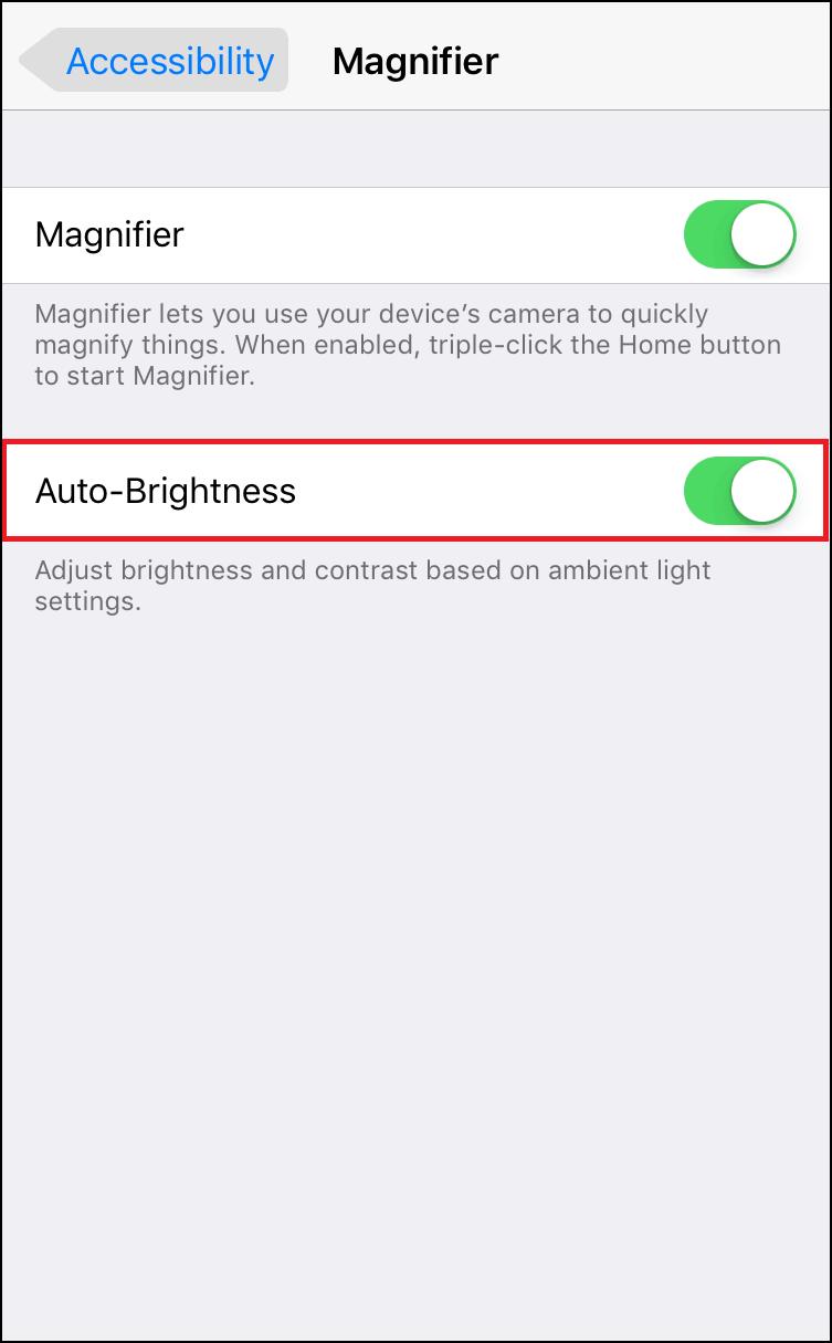 Auto Brightness