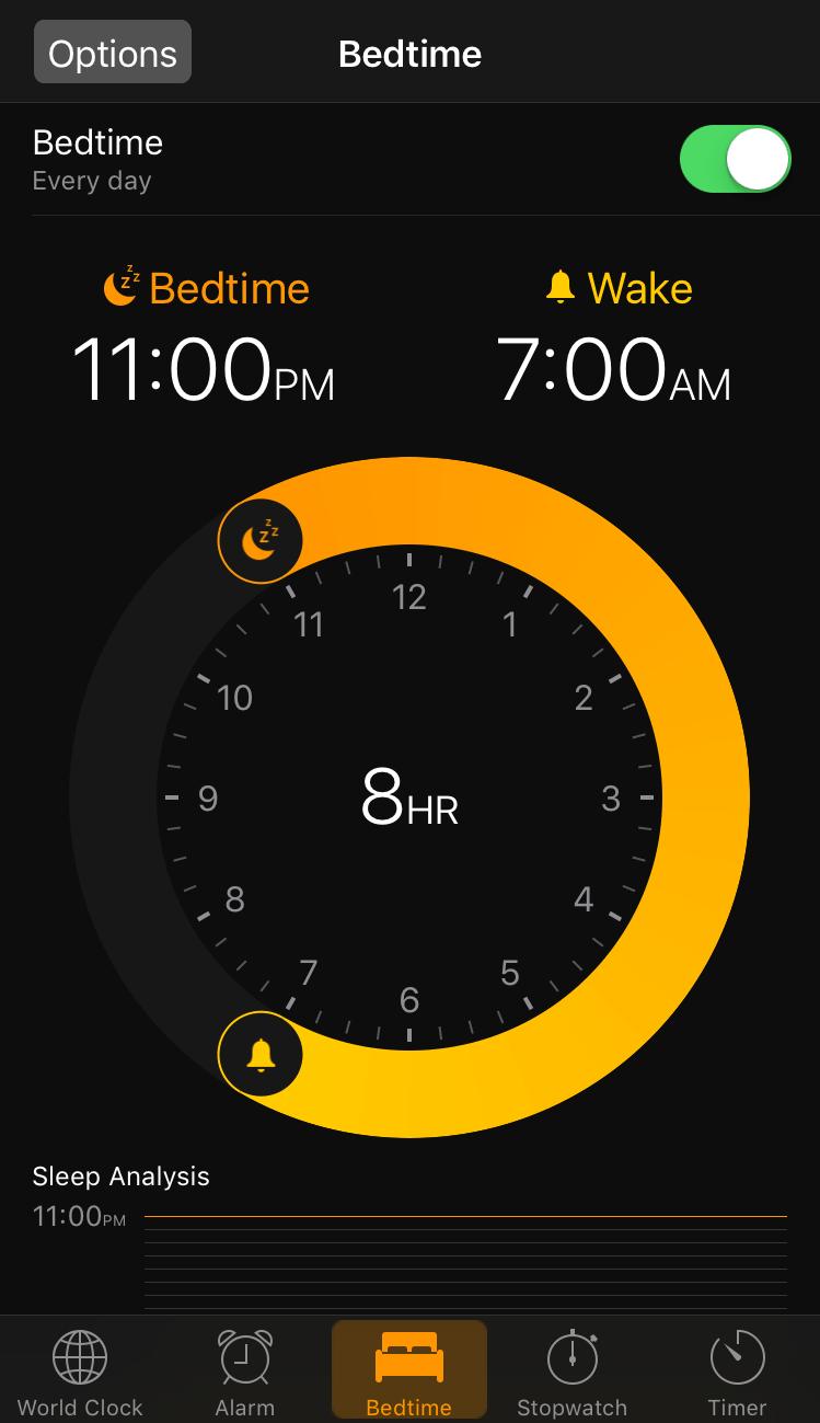 Bedtime Screen