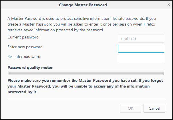 Change Master Password