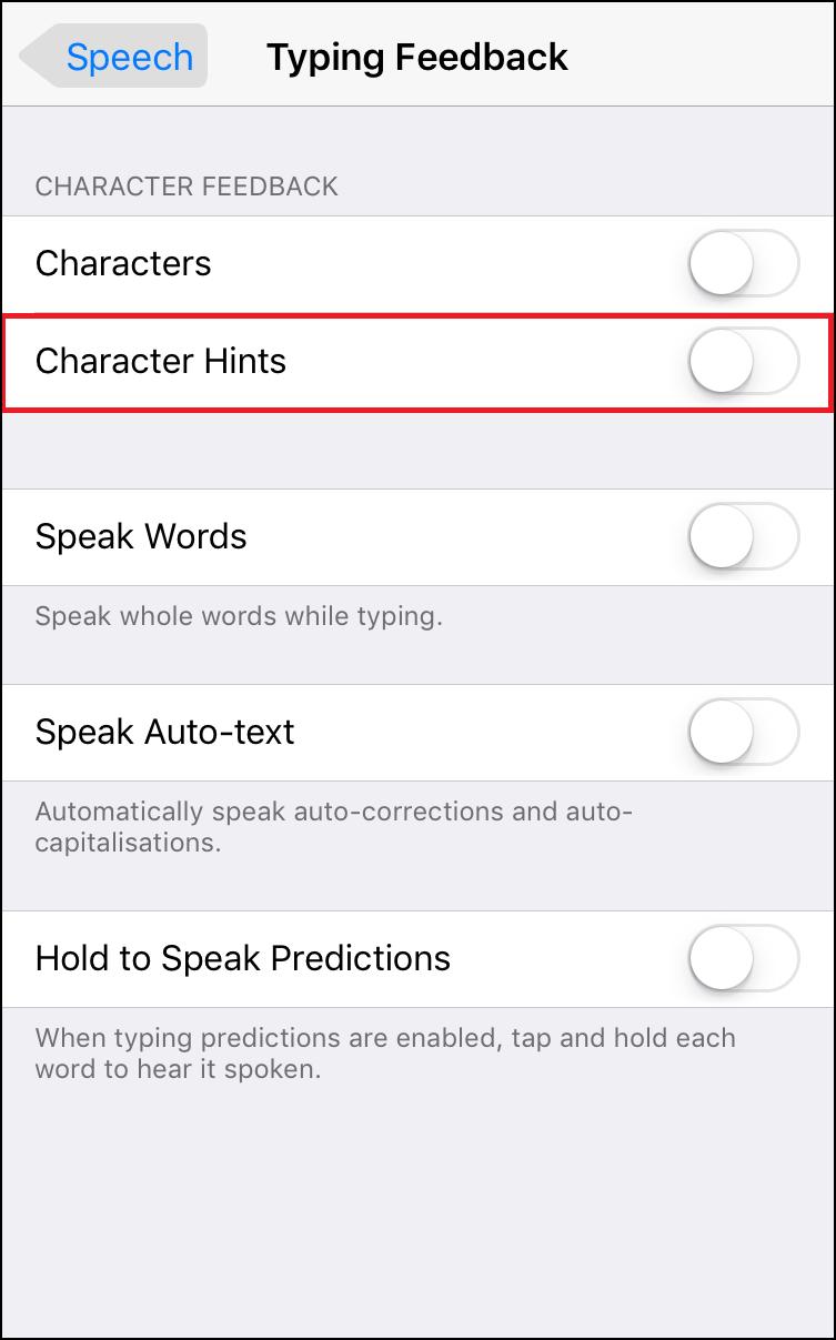 Character Hint