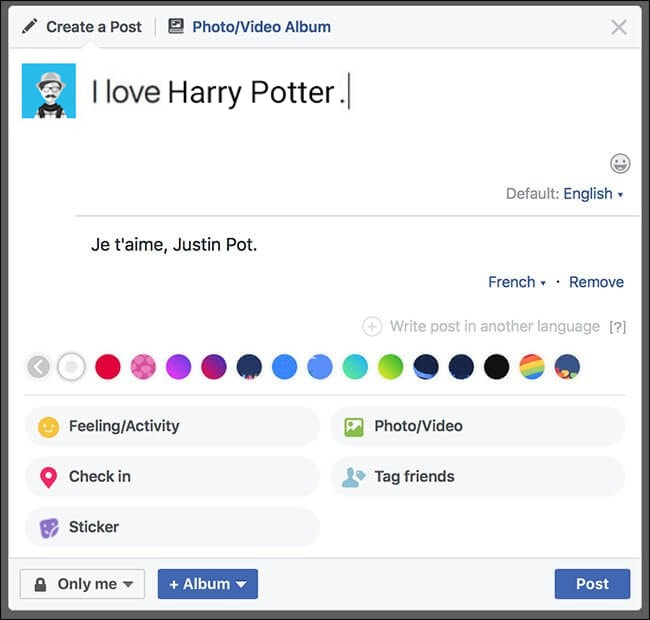 How To Write Facebook Posts In Different Languages