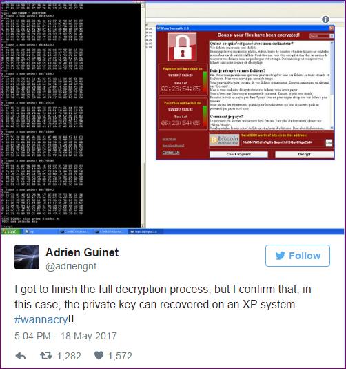 Guinet WannaCry Decryptor Tool
