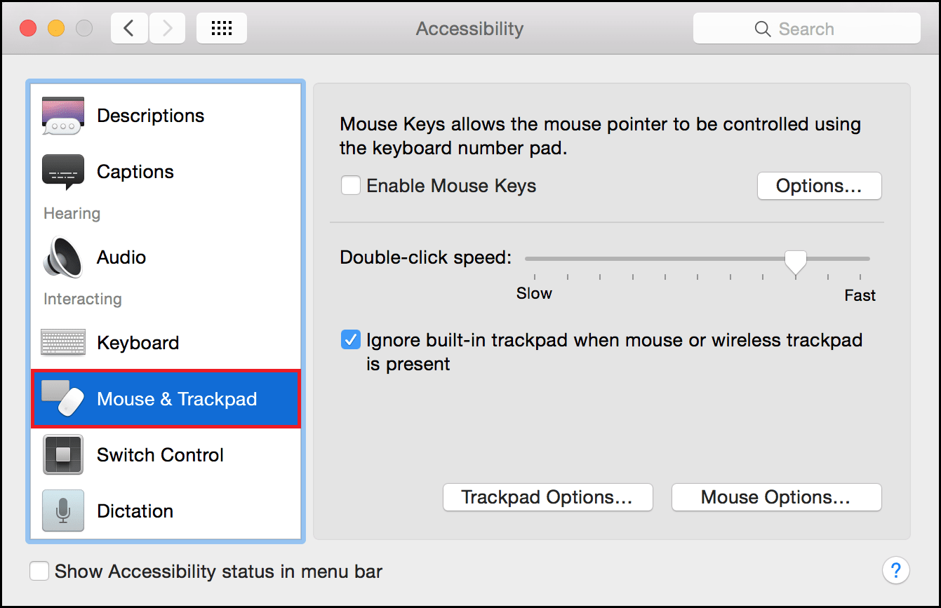 Mouse & Trackpad