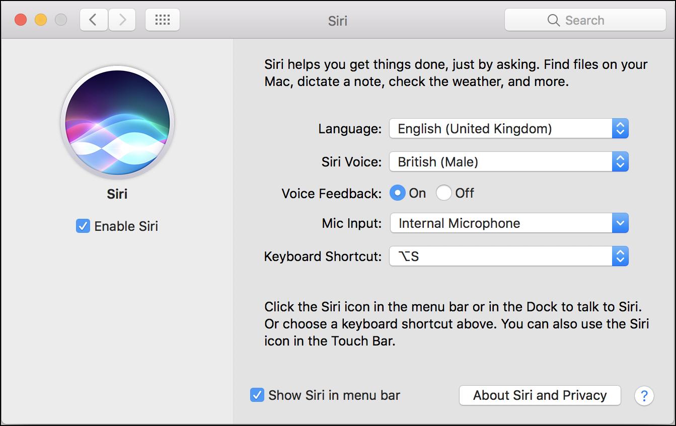 Siri Language voice