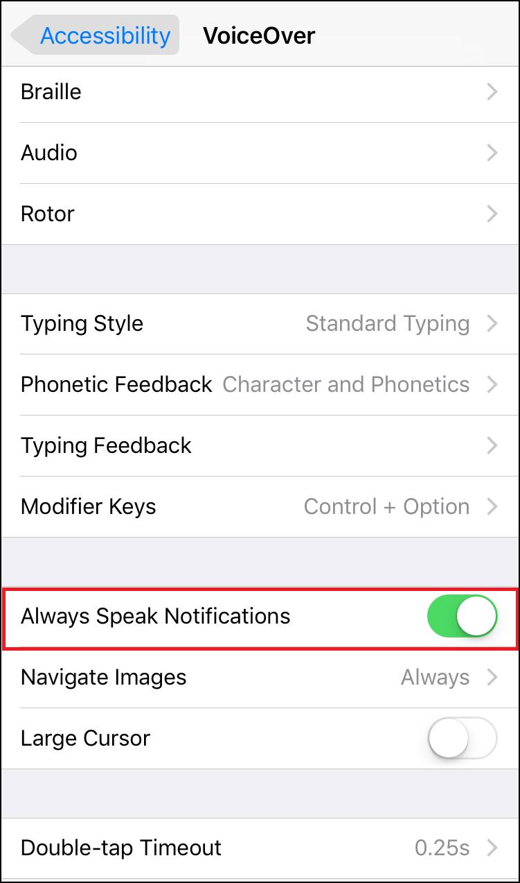 Speak Notifications