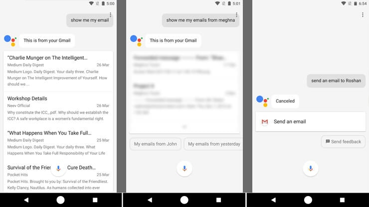 Google-Assistant Look-up-Emails-and-Appointments