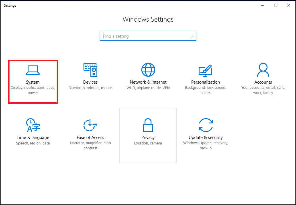Windows Setting