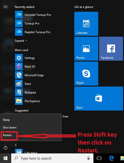 safe mode in windows 10