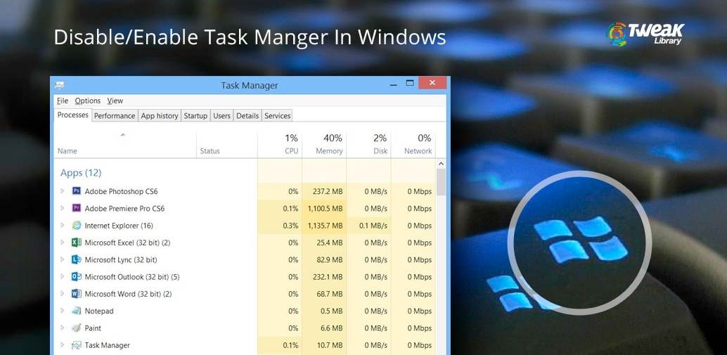 disable/enable task manager