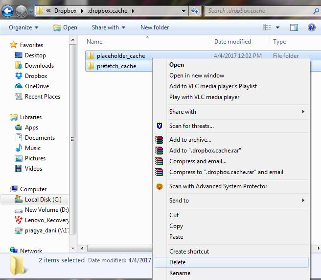 .dropbox.cache Windows