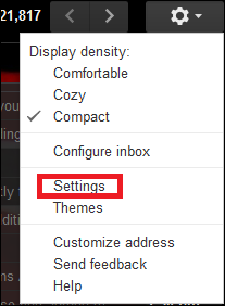 Click gear icon > Setting