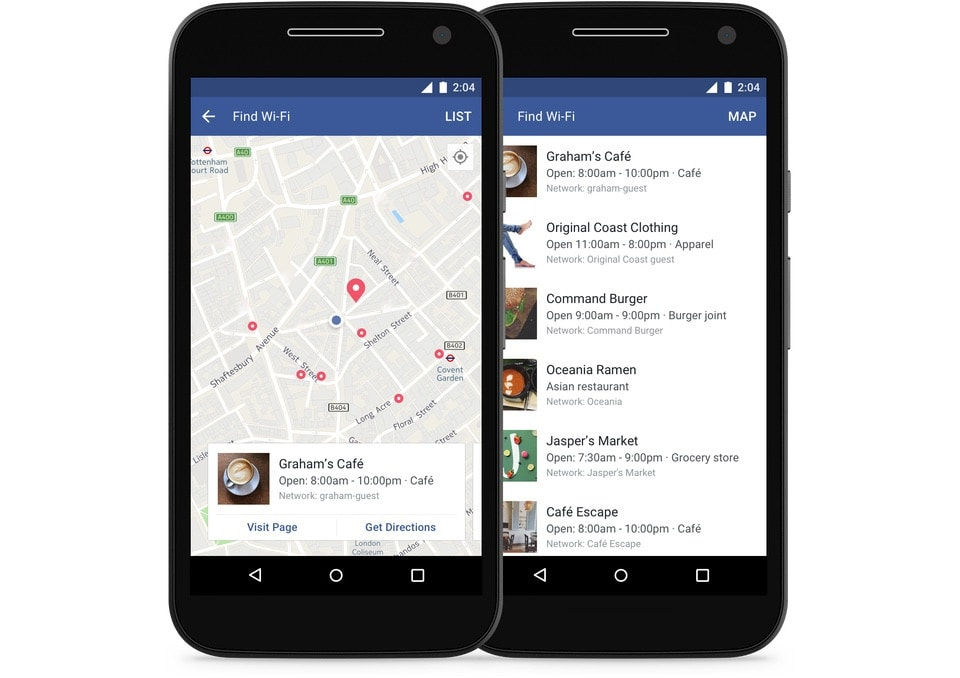 find-wi-fi-facebook android and iOS