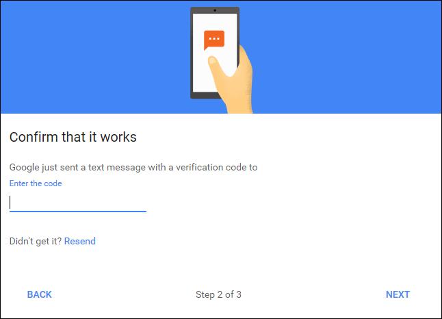 Verification code window
