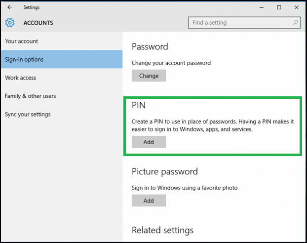 how to add fingerprints in windows 10
