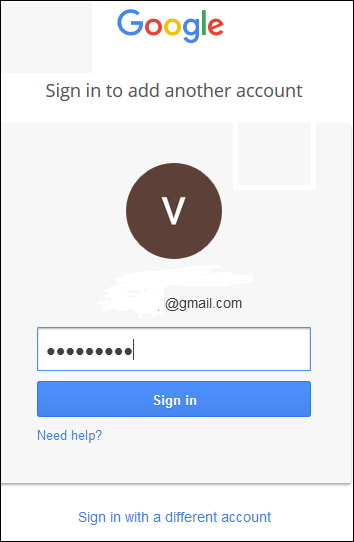Sign into Gmail.