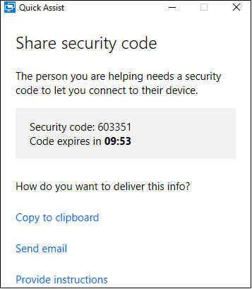 6 digit security code