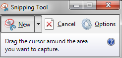 Snipping Tool window