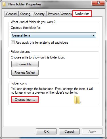 specific folder properties