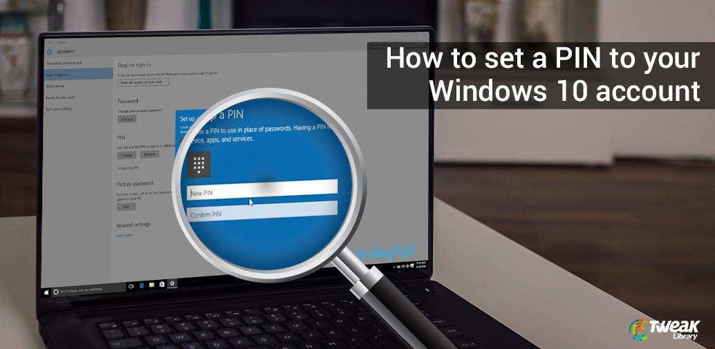 Pin in Windows 10