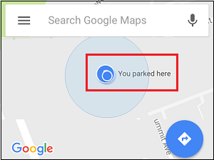 Google Maps to find your parked car on iPhone
